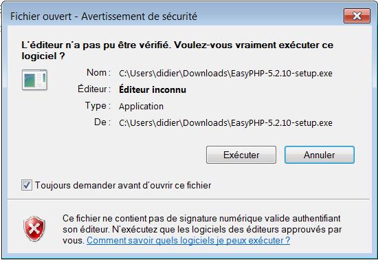 easyphp 5.2.10